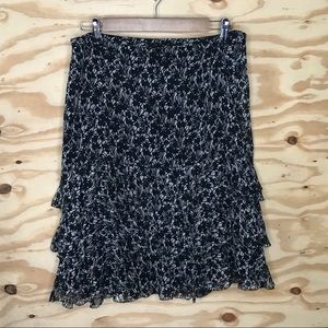 Ann Taylor Tiered Skirt Lined Size 8